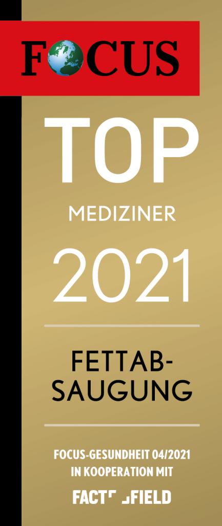 Focus Siegel Top Mediziner 2021 - Fettabsaugung